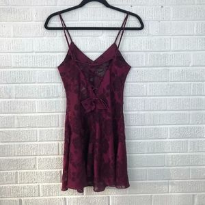 Victoria's Secret Vintage Lace Burnout Teddy Dress